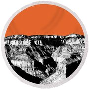 Grand Canyon - Coral Round Beach Towel