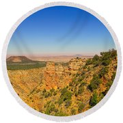 Grand Canyon Desert View Round Beach Towel