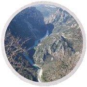 Grand Canyon Du Verdon Overview Round Beach Towel