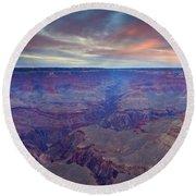 Grand Canyon Dusk Round Beach Towel by Mike  Dawson