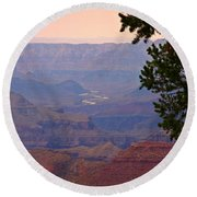 Grand Canyon Landscape One Round Beach Towel