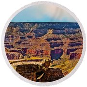 Grand Canyon Mather Viewpoint Round Beach Towel