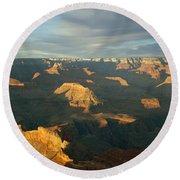 Grand Canyon National Park, Arizona, Usa Round Beach Towel