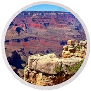 Grand Canyon Of Red By Diana Sainz Round Beach Towel