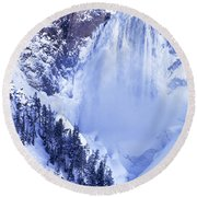 Grand Canyon Of The Yellowstone Yellowstone National Park Wyoming Round Beach Towel
