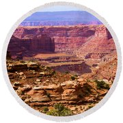 Grand Canyon Of Utah Round Beach Towel by Adam Jewell