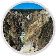 Grand Canyon Of Yellowstone Round Beach Towel
