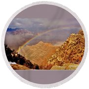 Grand Canyon Rainbow Round Beach Towel