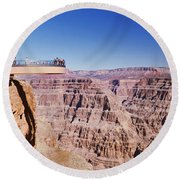 Grand Canyon Skywalk, Eagle Point, West Round Beach Towel