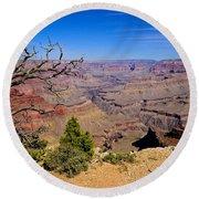 Grand Canyon South Rim Trail Round Beach Towel