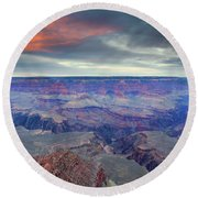 Grand Canyon Storm Set Round Beach Towel
