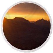 Grand Canyon Sunrise Round Beach Towel