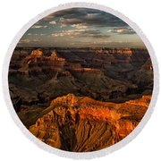Grand Canyon Sunset Round Beach Towel