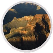 Grand Canyon Symphony Of Light And Shadow Round Beach Towel by Bob Christopher