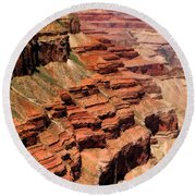 Grand Canyon Valley Depths Round Beach Towel