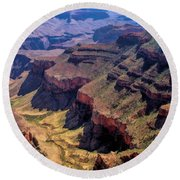 Grand Canyon Valley Trail Round Beach Towel