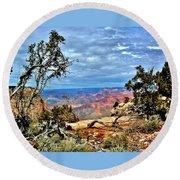 Grand Canyon View IIi Round Beach Towel