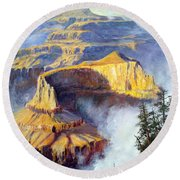 Grand Canyon View Round Beach Towel