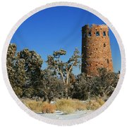 Grand Canyon Watch Tower Round Beach Towel