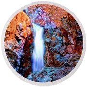 Grand Canyon Waterfall Round Beach Towel