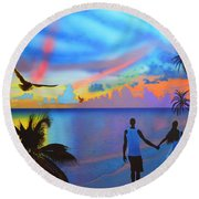 Grand Cayman Islanders Round Beach Towel