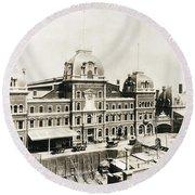 Grand Central, 1886 Round Beach Towel