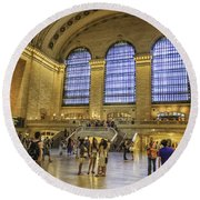 Grand Central Round Beach Towel