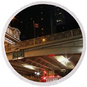 Grand Central Station At Pershing Square Round Beach Towel