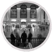 Grand Central Station Round Beach Towel