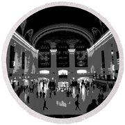 Grand Central Terminal Poster Round Beach Towel