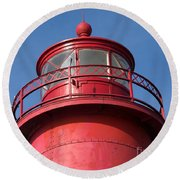 Grand Haven Red Round Beach Towel