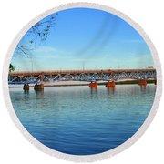 Grand Island Bridge 2 Round Beach Towel