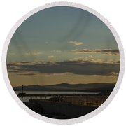 Grand Marais Mn Lighthouse 5 Round Beach Towel