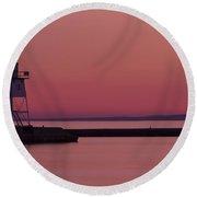 Grand Marais Mn Lighthouse 9 Round Beach Towel