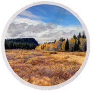 Grand Mesa Colors Round Beach Towel