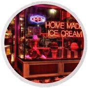 Grand Ole Creamery On Grand Avenue Round Beach Towel