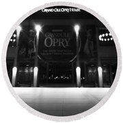 Grand Ole Opry At Night Round Beach Towel by Dan Sproul