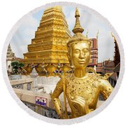 Grand Palace, Bangkok Round Beach Towel