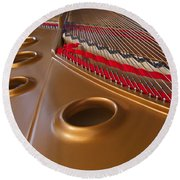 Grand Piano Round Beach Towel
