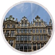 Grand Place Brussels Round Beach Towel