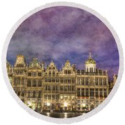 Grand Place Round Beach Towel