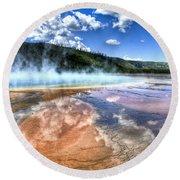 Grand Prismatic Spring - Yellowstone Round Beach Towel