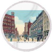 Grand Rapids - Michigan - Campau Square And Monroe Street - 1912 Round Beach Towel