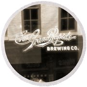 Grand Rapids Brewing Co Round Beach Towel