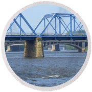 Grand Rapids Crossings Round Beach Towel