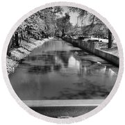 Grand Rapids Round Beach Towel by Dan Sproul
