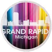 Grand Rapids Mi 2 Round Beach Towel