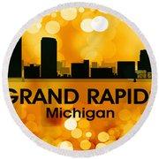 Grand Rapids Mi 3 Round Beach Towel