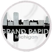 Grand Rapids Mi 4 Round Beach Towel