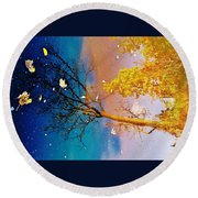 Grand Reflections # 1 Round Beach Towel